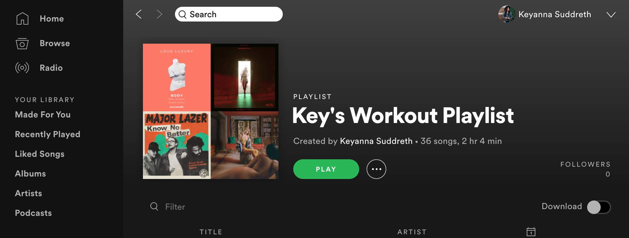 My Ultimate Spotify Workout Playlist