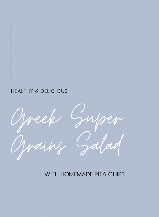 Healthy and Delicious Greek Super Grains Salad recipe
