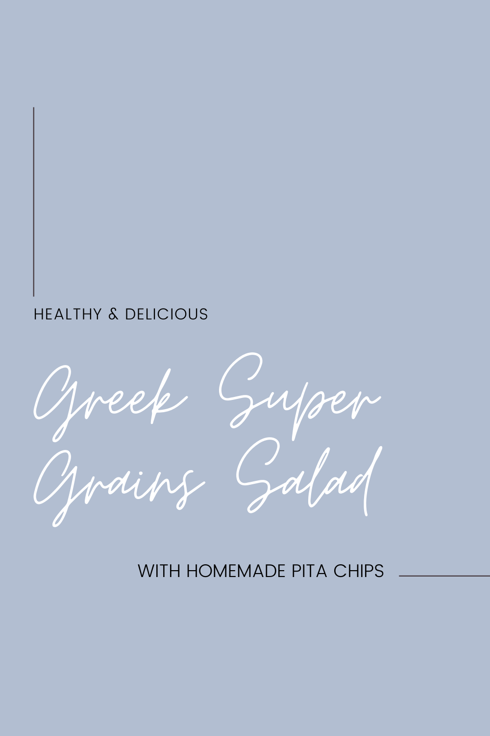 Healthy and Delicious Greek Super Grains Salad