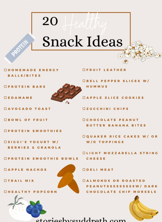 20 Healthy Snack Ideas
