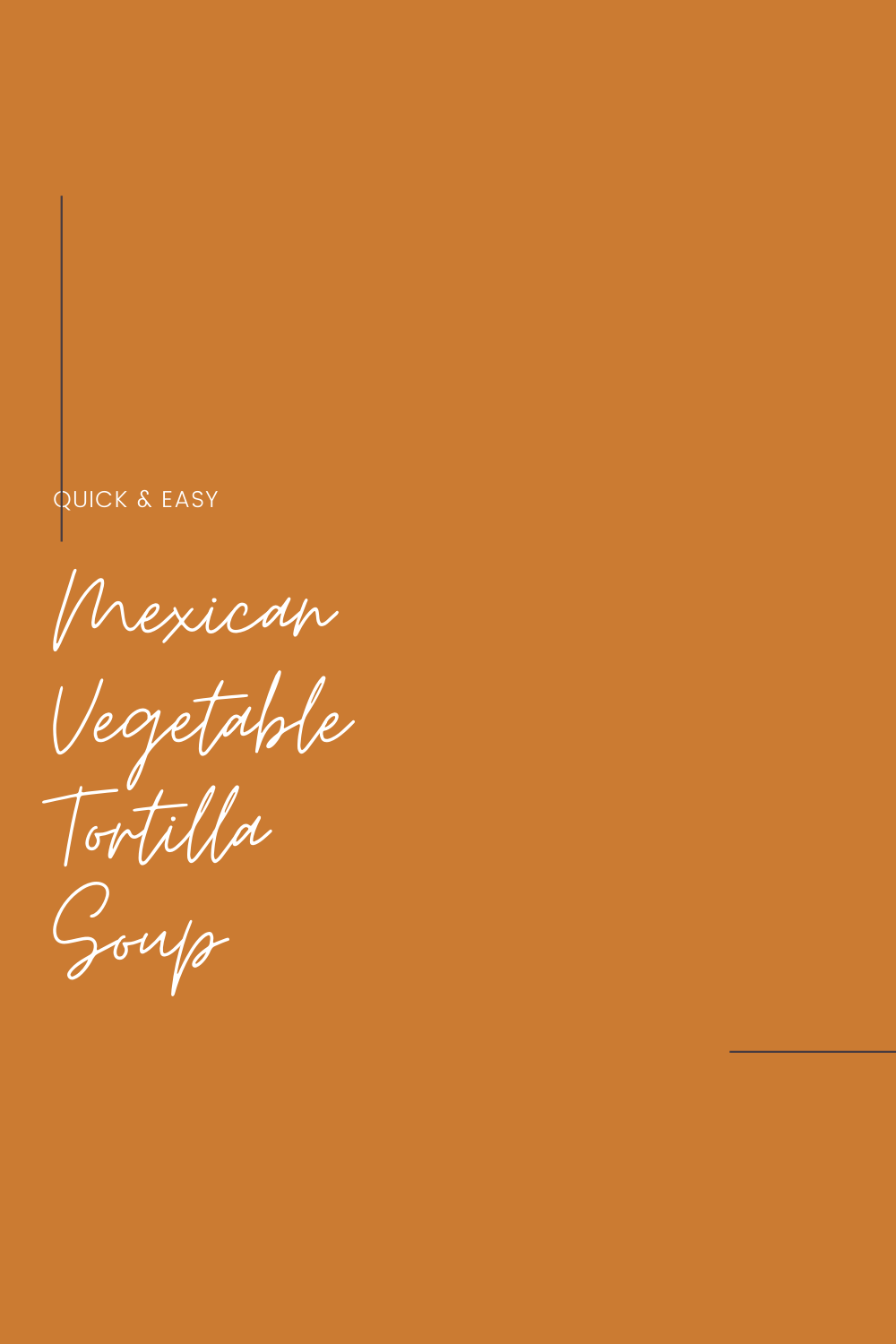 Quick and Easy Mexican Vegetable Tortilla Soup