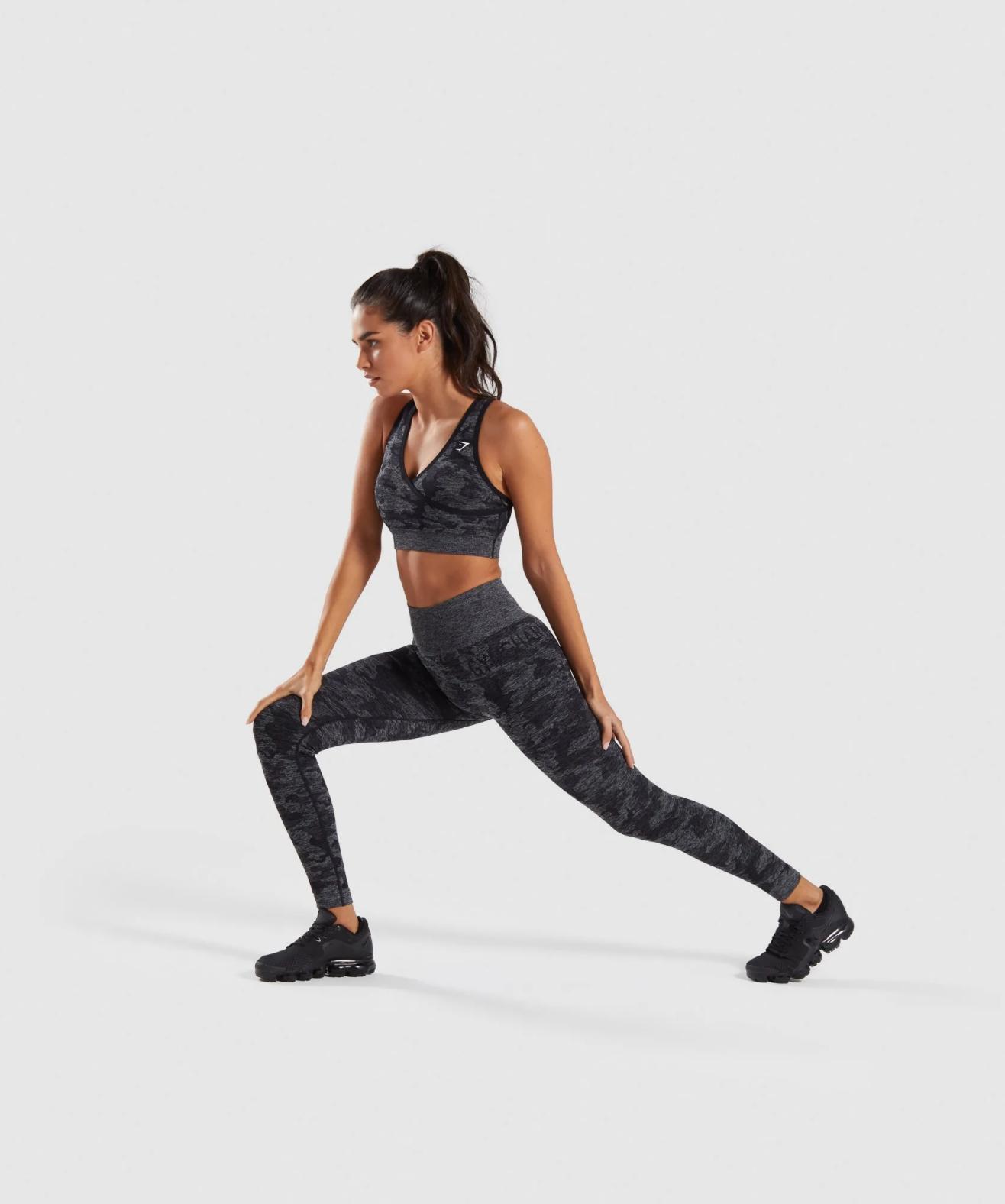 Gymshark Adapt Camo Seamless Leggings in Black