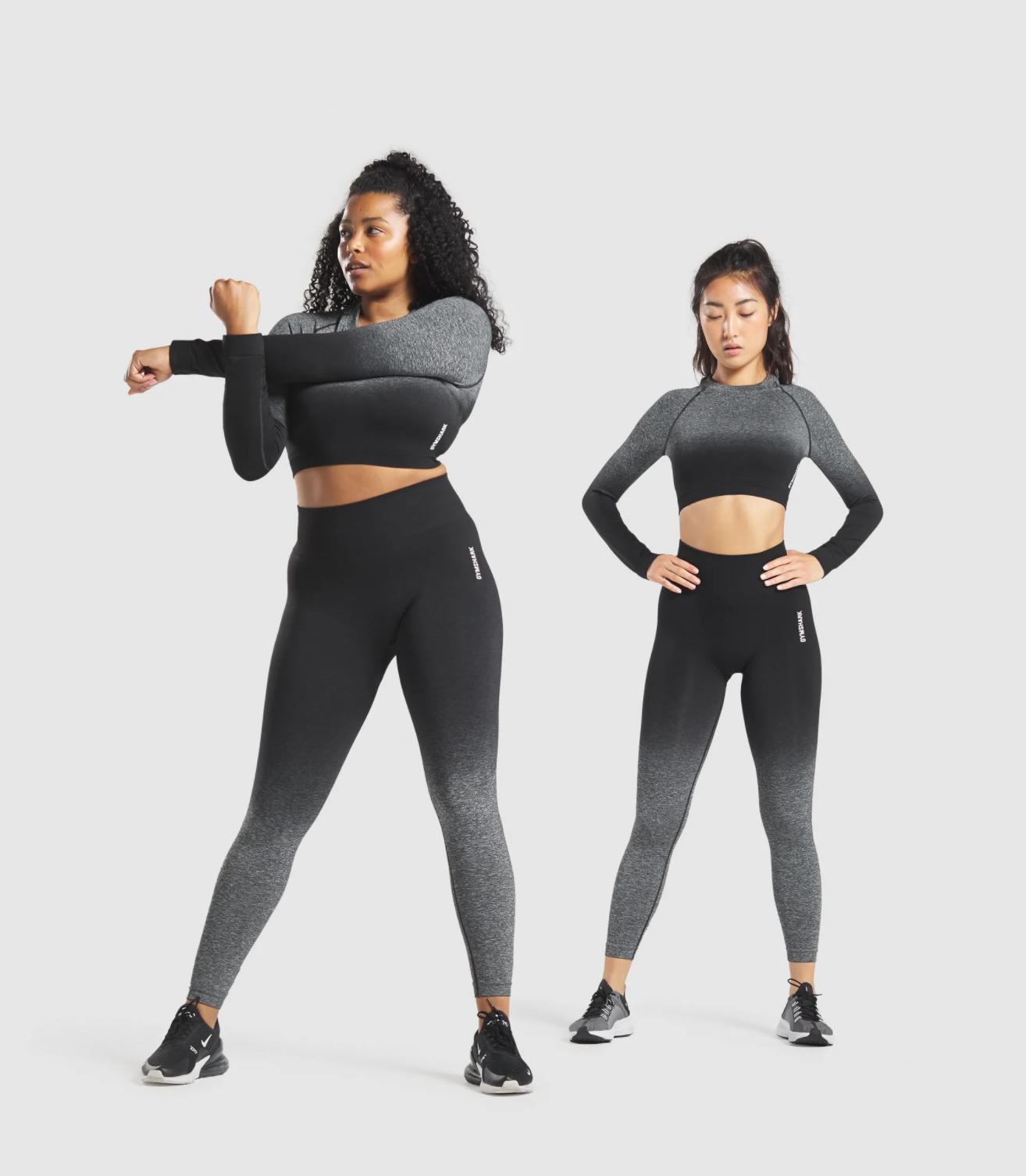 Gymshark Adapt Ombre Seamless Leggings in Black:Black Marl