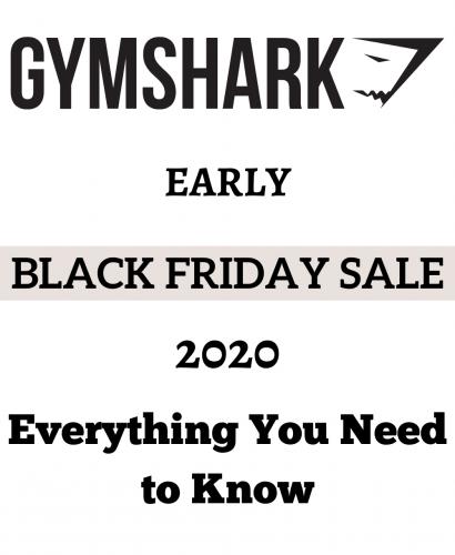 Gymshark Early Black Friday Sale 2020
