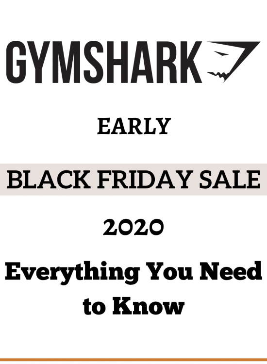 Gymshark Early Black Friday Sale 2020