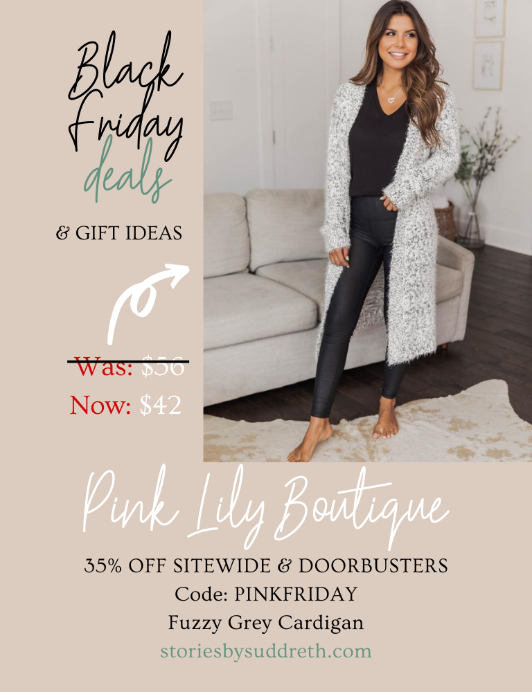 November Best Sellers, Pink Lily Boutique Grey Fuzzy Cardigan