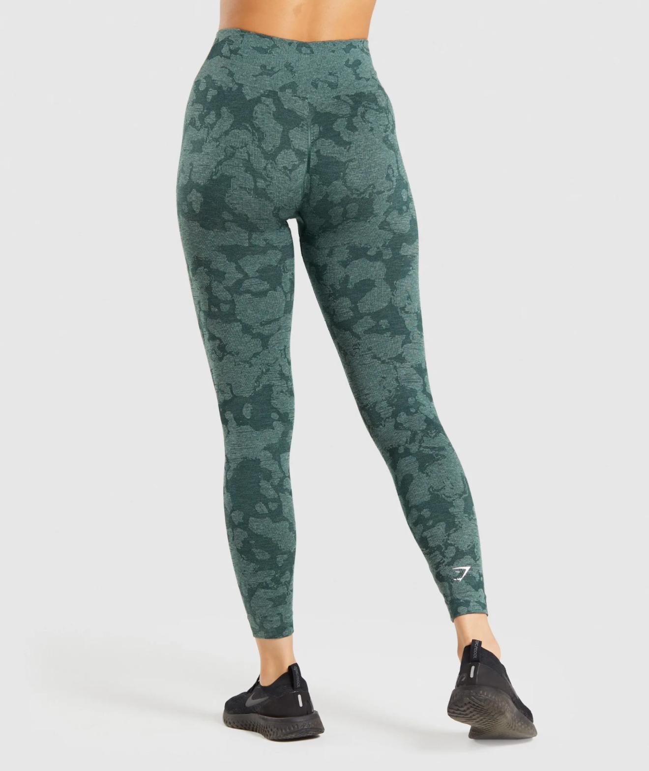 Adapt Camo Seamless Leggings in Obsidian Green