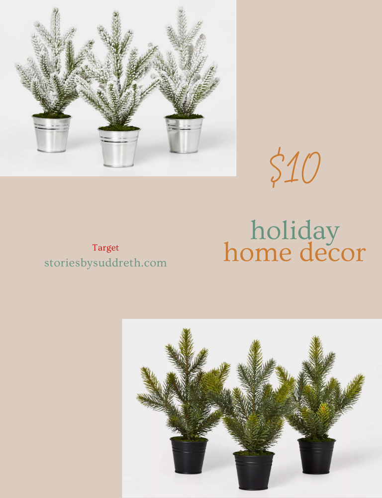 November Best Sellers, Target Holiday Home Decor, Mini Trees in Buckets