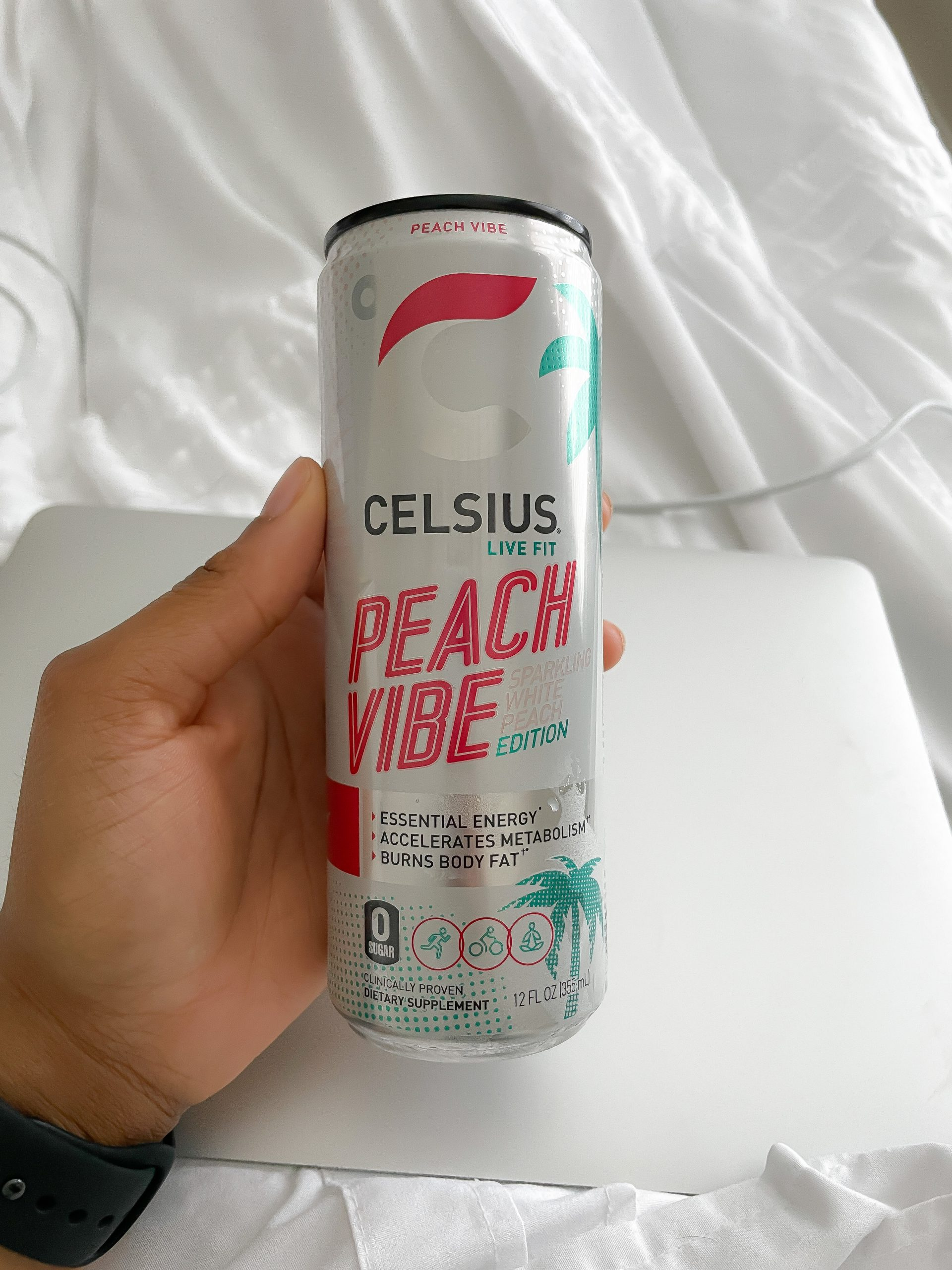 Celsius Peach Vibe Energy Drink Review